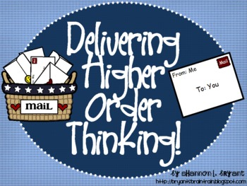 "Mail Bloom's Taxonomy Class Posters (""Delivering"" Higher O"