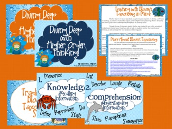 Scuba Bloom's Taxonomy Class Posters (Diving Deep with Higher Order Thinking!)