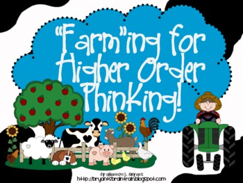 """Farm Bloom's Taxonomy Class Posters (""""Farm""""ing for Higher"""