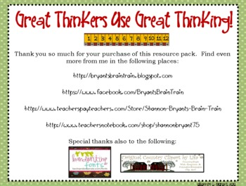 "Bloom's Taxonomy Class Posters (""Great Thinkers Use Great Thinking!"")"
