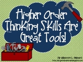 "Bloom's Taxonomy Class Posters (""Higher Order Thinking Ski"