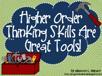 """Bloom's Taxonomy Class Posters (""""Higher Order Thinking Ski"""