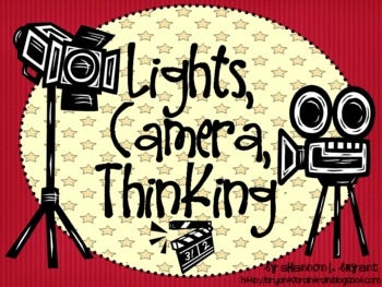Movie Themed Bloom's Taxonomy Class Posters (Lights, Camer