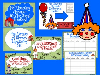 Circus Bloom's Taxonomy Posters (No Clowning Around--We Are Great Thinkers!)