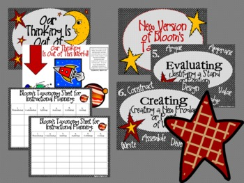 Space Bloom's Taxonomy Class Posters (Our Thinking Is Out of This World!)