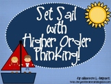"""Ocean Bloom's Taxonomy Class Posters (""""Set Sail with Higher Order Thinking!"""")"""