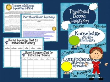 """Bloom's Taxonomy Class Posters (""""Up, Up, and Away with Higher Order Thinking!"""")"""