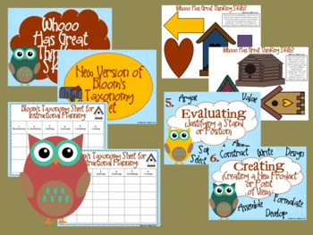 "Owl Bloom's Taxonomy Class Posters (""Whooo Has Great Thinking Skills?"")"