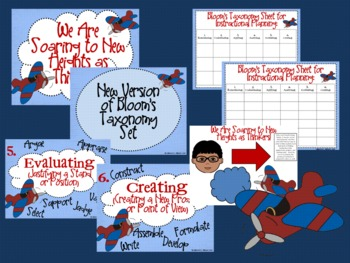Airplane Bloom's Taxonomy Classroom Posters (Soaring to New Heights as Thinkers)