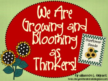 Garden Bloom's Taxonomy Posters (We Are Growing and Bloomi