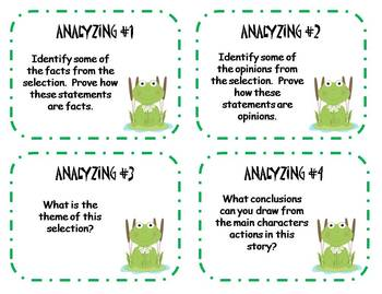 Blooms Taxonomy Comprehension Question Cards