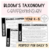 Bloom's Taxonomy Comprehension Questions - Use with ANY text!
