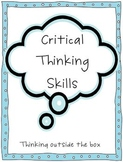 Bloom's Taxonomy-Critical Thinking Skills posters