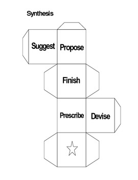 Bloom's Taxonomy Cubes - Cubing Acitivities