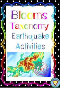 Blooms Taxonomy Earthquake Activities