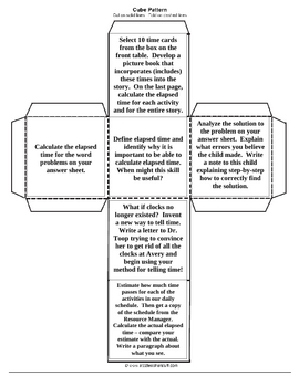 Blooms Taxonomy Elapsed Time Cubing Activity