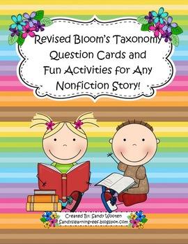 Bloom's Taxonomy Fiction Activities, Nonfiction Activities, & Poster Bundle!
