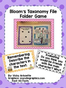 Bloom's Taxonomy File Folder Game