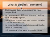 Bloom's Taxonomy Formative Introduction