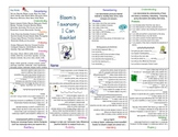 """Revised Bloom's Taxonomy """"I Can"""" Mini Booklet"""
