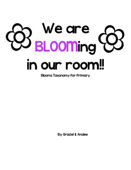 Blooms Taxonomy Information at a Primary Level