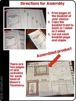 Bloom's Taxonomy Literature/Informational Text Response Booklets