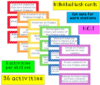 Blooms Taxonomy Olympic Activities