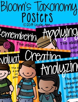 Bloom's Taxonomy Posters