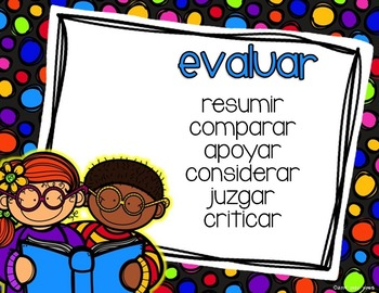 Bloom's Taxonomy Posters in Spanish