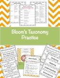 Bloom's Taxonomy Practice