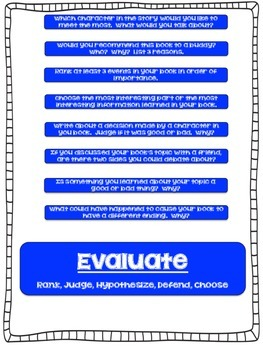 Bloom's Taxonomy Question Stick Prompts