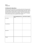 Bloom's Taxonomy Question Writing: Graphic Organizer