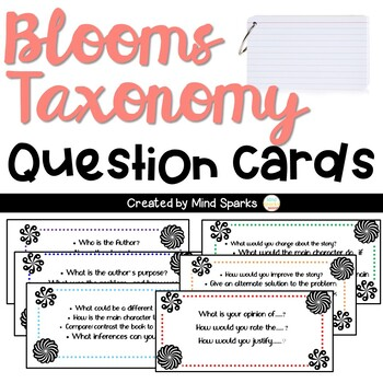 Blooms Taxonomy Questiong Cards