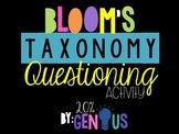 Bloom's Taxonomy Questioning Activity for Genius Hour