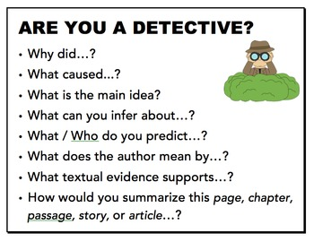 Bloom's Taxonomy Questions & Activities: Robot, Detective, Judge, and Inventor