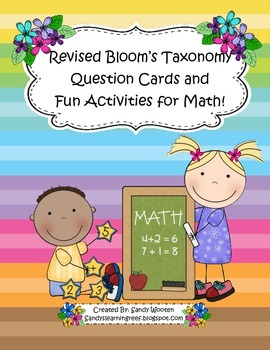 Math Talk Questions & Activities Using Bloom's Taxonomy Fo