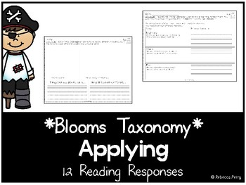 Blooms Taxonomy - Applying Reading Responses - Guided Reading Activities