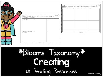 Blooms Taxonomy - Creating Reading Responses - Guided Reading Activities