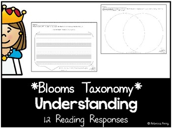 Blooms Taxonomy - Understanding Reading Responses - Guided Reading Activities