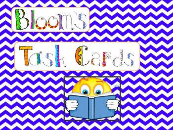 Bloom's Taxonomy Task Cards (for fiction texts)