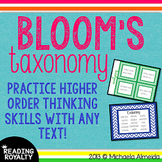 Bloom's Taxonomy for ANY book! Posters, Task Cards, & Question Stems