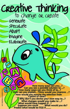 Bloom's Taxonomy posters and questions ocean theme
