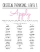 Blooms Verbs Activity Posters 8.5x11