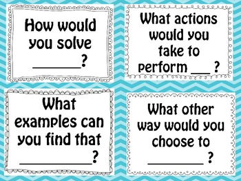 Bloom's (revised) Taxonomy Sentence Stem Cards