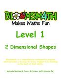Bloomsmath Differentiated 2D Kindergarten Maths Activities