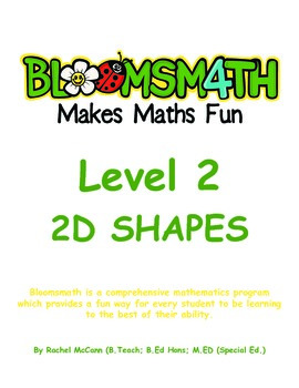 Bloomsmath Differentiated 2D Maths Activities for Year 1