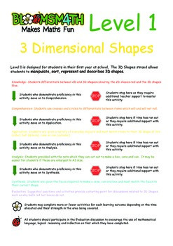 Bloomsmath Differentiated 3D Kindergarten Maths Activities