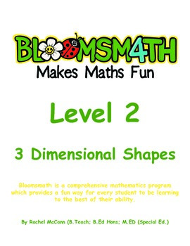 Bloomsmath Differentiated 3D Maths Activities for Year 1