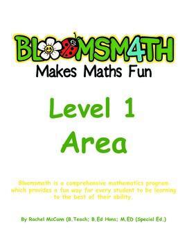 Bloomsmath Differentiated Area Kindergarten Maths Activities