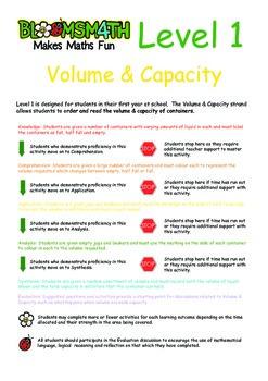 Bloomsmath Differentiated Volume & Capacity Kindergarten Maths Activities